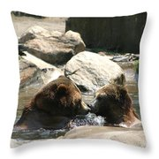 Bear Smooches Throw Pillow