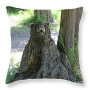 Bear In A Tree Throw Pillow