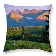 Bear Valley Glacier National Park Throw Pillow