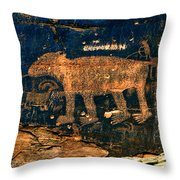 Bear Wall Throw Pillow