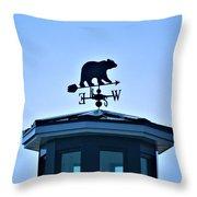 Bear Weathervane Throw Pillow
