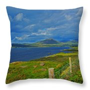 Beara Peninsula West Kerry - On The Road To Lauragh Again Throw Pillow