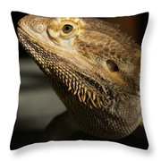 Bearded Dragon Profile Throw Pillow
