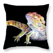 Bearded Dragon Throw Pillow