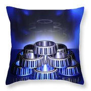 Bearings In Blue Throw Pillow
