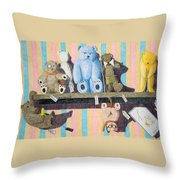 Bearly There Throw Pillow by A  Robert Malcom