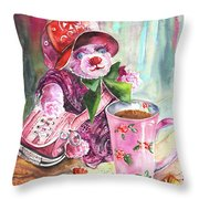 Bearnadette Throw Pillow