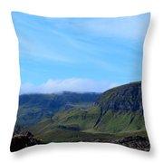 Bearreraig Bay In Scotland Throw Pillow