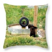 Bears At Play Throw Pillow