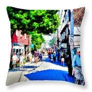 Bearskin Neck Rockport Ma Throw Pillow