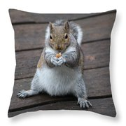 Beast Mode Squirrel Throw Pillow