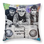 Beastie Boys Throw Pillow