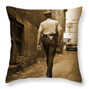Beat Cop Throw Pillow by John Malone