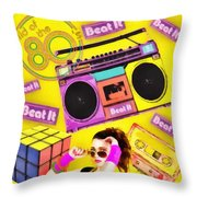 Beat It Throw Pillow by Mo T