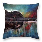 Bob Marley's First Throw Pillow