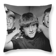 Beatle Haircuts Get Reprieve Throw Pillow