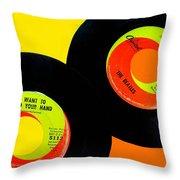 Beatles 50th Anniversary Throw Pillow