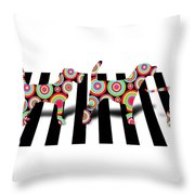 Beatles Dogs Throw Pillow by Mark Ashkenazi
