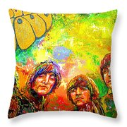 Beatles Rubber Soul Throw Pillow