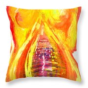 Beau Flambeau A Fire Girl Throw Pillow