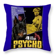 Beauceron Art Canvas Print - Psycho Movie Poster Throw Pillow
