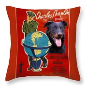 Beauceron Art Canvas Print - The Great Dictator Movie Poster Throw Pillow