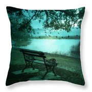 Beaufort South Carolina Surreal Ocean Inland Scene Throw Pillow by Kathy Fornal
