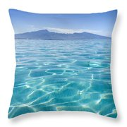 Beauitful Seascape Of Moorea Throw Pillow