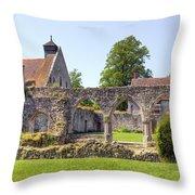 Beaulieu Abbey Throw Pillow