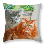 Beauregard And Stonewall Throw Pillow