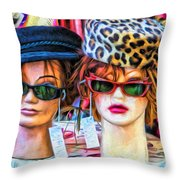 Beauties For Sale Throw Pillow