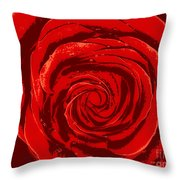 Beautiful Abstract Red Rose Illustration Throw Pillow