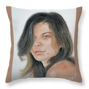 Beautiful And Sexy Actress Jeananne Goossen IIi  Throw Pillow by Jim Fitzpatrick