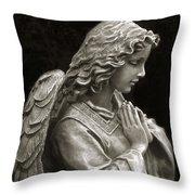 Beautiful Angel Praying Hands Christian Art Print Throw Pillow