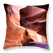 Beautiful Antelope Canyon Colors Throw Pillow