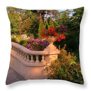 Beautiful Balustrade Fence In Halifax Public Gardens Throw Pillow