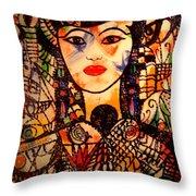 Beautiful Banafrit Throw Pillow