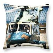 Beautiful Beast Throw Pillow by Paul Job