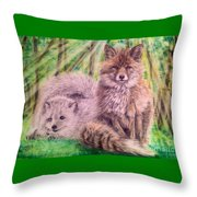 Beautiful Because Fox Alive Throw Pillow