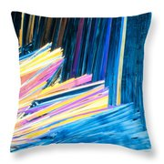 Beautiful Benzoic Acid  Microcrystals Abstract Art Throw Pillow