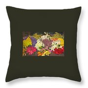 Beautiful Blooms Throw Pillow