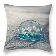 Beautiful Blue Bubble Throw Pillow