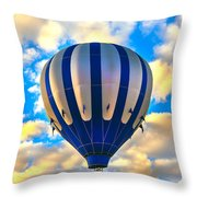 Beautiful Blue Hot Air Balloon Throw Pillow