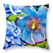 Beautiful Blue Orchid Throw Pillow