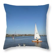 Beautiful Blue Sky Throw Pillow