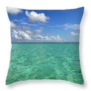 Beautiful Bora Bora Green Water And Blue Sky Throw Pillow