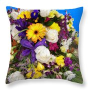 Beautiful Bouquet Of Flowers Throw Pillow