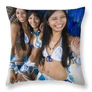 Beautiful Women Of Brazil 2 Throw Pillow