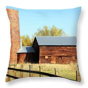 Beautiful Brick Silo Throw Pillow