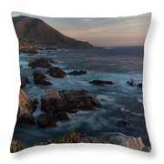 Beautiful California Coast In Spring Throw Pillow by Mike Reid